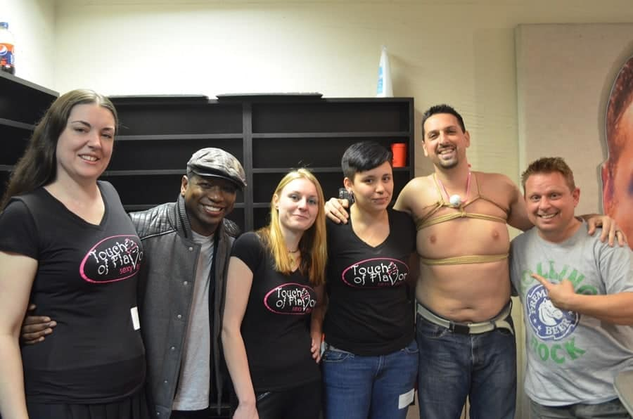 Cassie, Larissia, and Aiden after doing a demonstration and interview for 98 rock in Baltimore